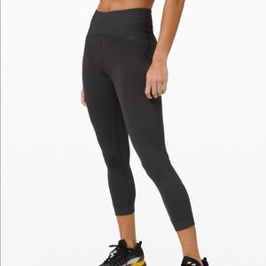 "Lululemon Train Free High-Rise Crop 23"" (Grey)"